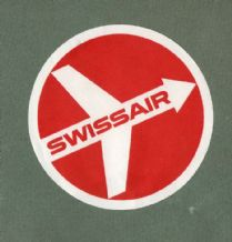 Airline luggage label Swissair Swiss airlines #339